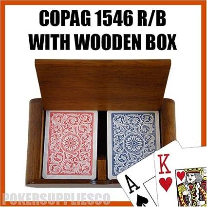 Amazon.com: Copag Juego de caja de madera con 1546 RB ...