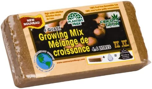 Akro-Mils Planters Pride RZ4QBR 4-Quart Fiber Grow Growing Mix