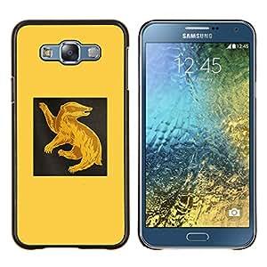 Qstar Arte & diseño plástico duro Fundas Cover Cubre Hard Case Cover para Samsung Galaxy E7 E700 (Amarillo Ant Eater)