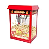New 8oz Ounce Deluxe Popcorn Popper Maker Machine Red Table Top Tabletop Theater Style