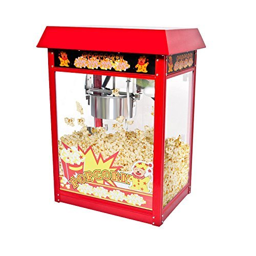 New 8oz Ounce Deluxe Popcorn Popper Maker Machine Red Table Top Tabletop Theater Style by Everyday Big Deal