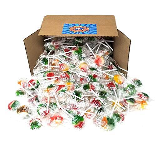(CrazyOutlet Pack - Tiger Pops, Assorted Fruit Flavor Lollipops Hard Candy Bulk, 2 lbs )