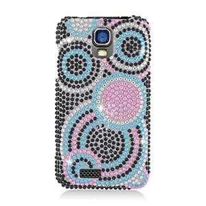 ZTE Engage V8000 Cricket Bling Gem Jeweled Jewel Crystal Diamond Black Pink Blue Circles Cover Case