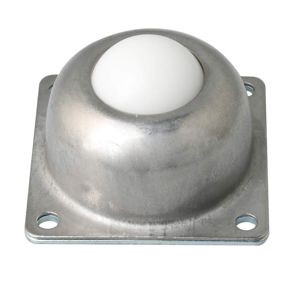 BQLZR 38mm Diameter Silver Carbon Steel CY-38A Two-Hole Flange Mounted Roller Ball Transfer Bearings