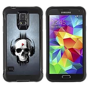"Hypernova Defender Series TPU protection Cas Case Coque pour Samsung Galaxy S5 V [Cráneo golpe Juego""]"