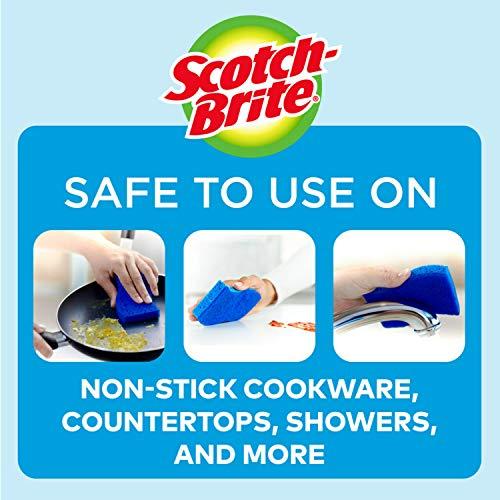 Scotch-Brite Non-Scratch Scrub Sponges, 24 Scrub Sponges, Lasts 50% Longer than the Leading National Value Brand