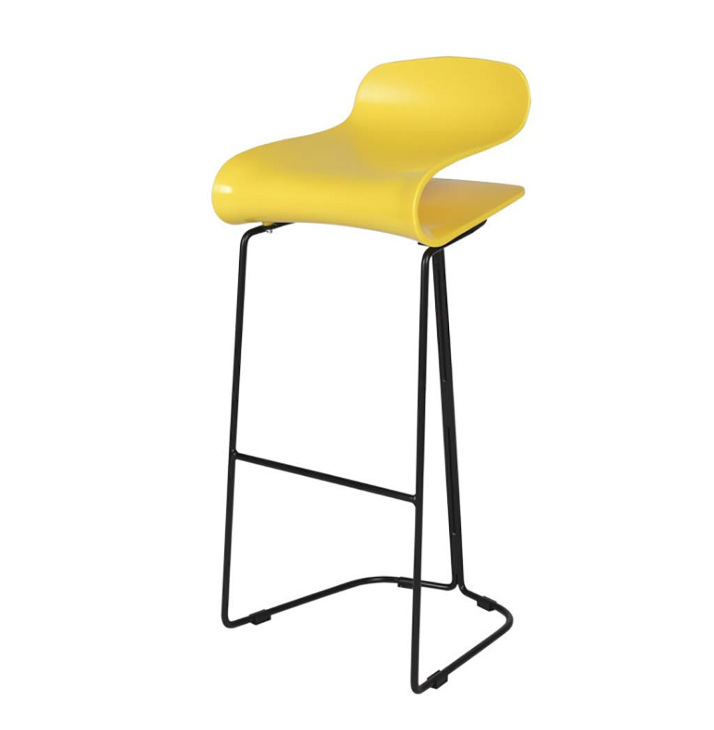 B Nordic Minimalist Bar Chair PP Seat High Stool Bar Chair Household Iron High Stool  Multicolor Optional (color   C)
