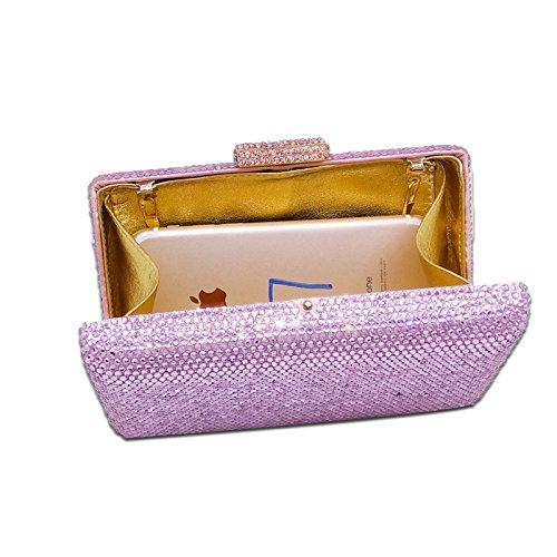 De De Sac De Dinner Chaîne Banquet Sac à De Hot Violets Pure Diamond Fashion Sac De Couleur Sac Soirée Crystal Strass Main Sac Pour D'embrayage Mariée Dames ar1dHrq