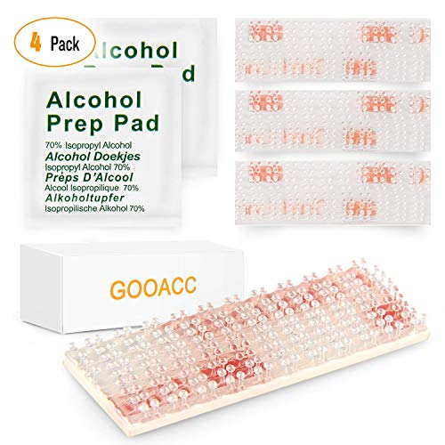 GOOACC 709 Mounting Kit-Dual Lock Tape-2 Sets of Peel-and-Stick EZ Pass/SunPass Adhesive Strips with Alcohol Prep - Lightweight Mounting