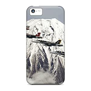 Protection Case For Iphone 5c / Case Cover For Iphone(aircraft On The Background Of The Volcano)