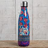 """Natural Life """"Good Vibes Only"""" Double Wall Water Bottle"""