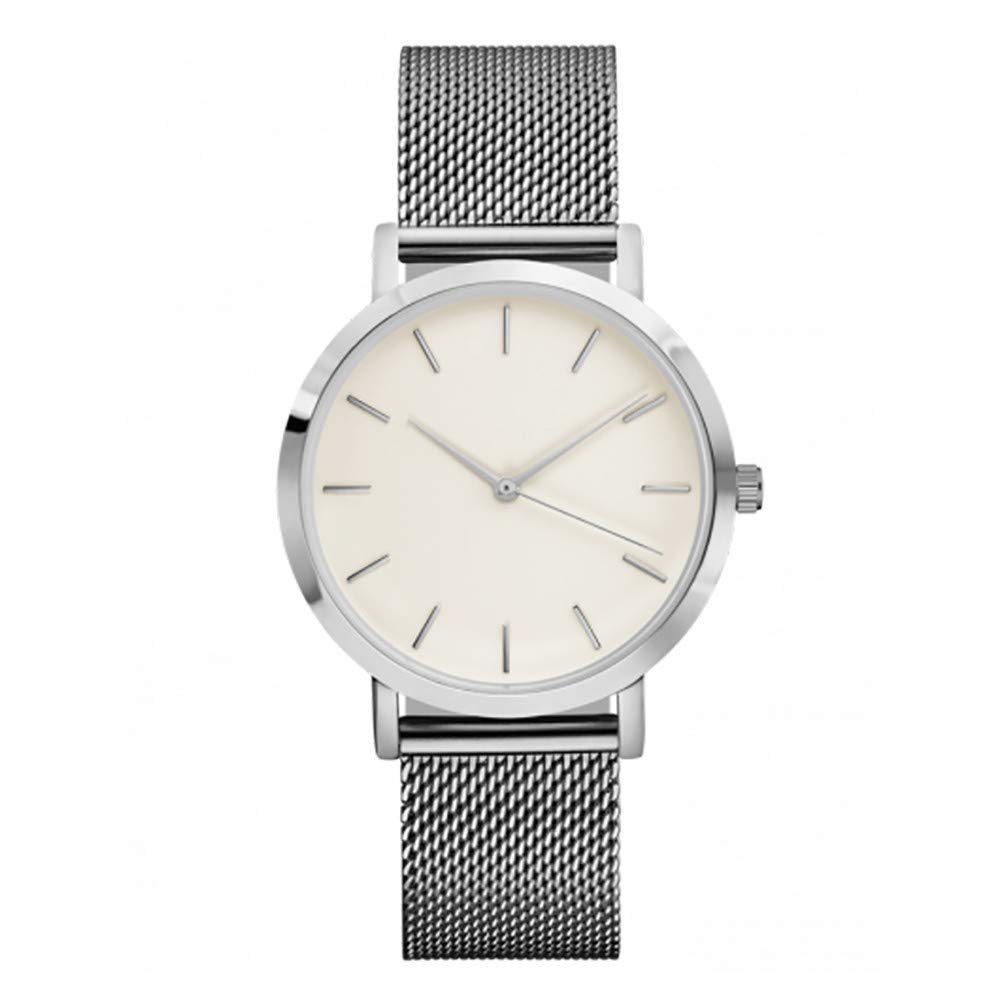 Hot Sale ! Gibobby Watches, Casual Luxury Wristwatches Chronograph Minimalist Delicate Metal Mesh Band Watches Simple Analog Wrist Watches Gifts for Women & Girls