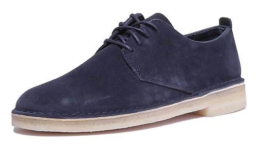 Clarks Originals Desert London Mens Navy Leather Matt Sho: Amazon.co.uk:  Shoes & Bags