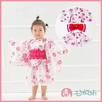 d72895053c496  ER2571P5  浴衣 ドレス キッズ 女の子 3点セット 子供 ベビー 夏祭り 盆踊り 花
