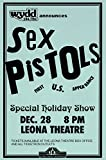 Sex Pistols 1977 Live First U.S. Tour Leona Theatre Retro Art Print — Poster Size — Print of Retro Concert Poster — Features Johnny Rotten, Steve Jones, Glen Matlock, Sid Vicious and Paul Cook .