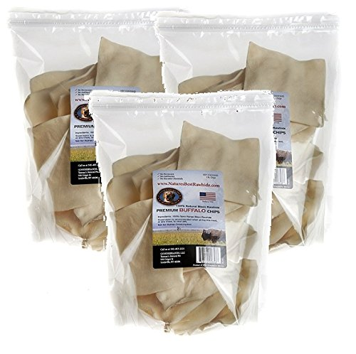 (3 Pack) All-Natural Buffalo Rawhide Chip, 1 Pound each Tasman's Natural Pet