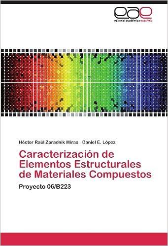 Book Caracterización de Elementos Estructurales de Materiales Compuestos: Proyecto 06/B223