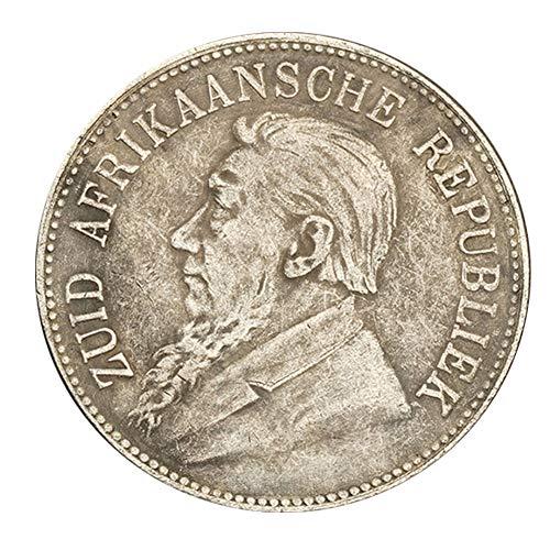 Xinmeitezhubao Silver Coin Silver Dollar Collection, South African Republic Shilling Commemorative Coin 1892, Antique Silver Coin, European History Commemorative -