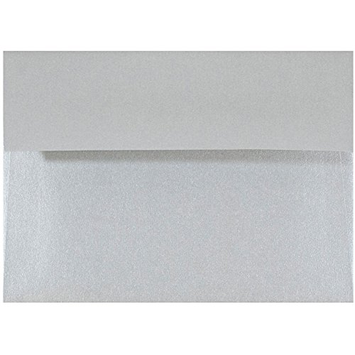 JAM PAPER 4Bar A1 Metallic Invitation Envelopes - 3 5/8 x 5 1/8 - Silver Stardream - 25/Pack