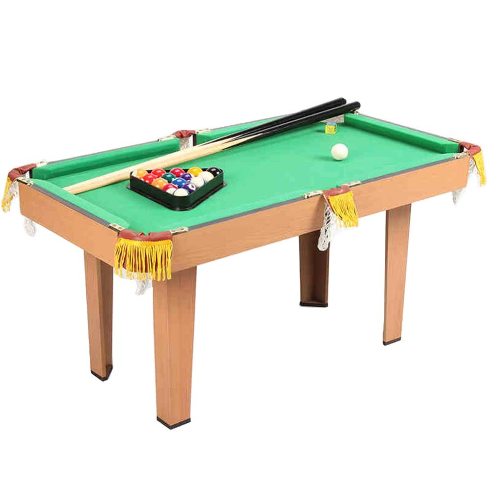 Pool Table Space Save Billiard Table for Kids and Adults Billiard/Pool Table (Color : Green, Size : 52x47x93cm) by Forgiven