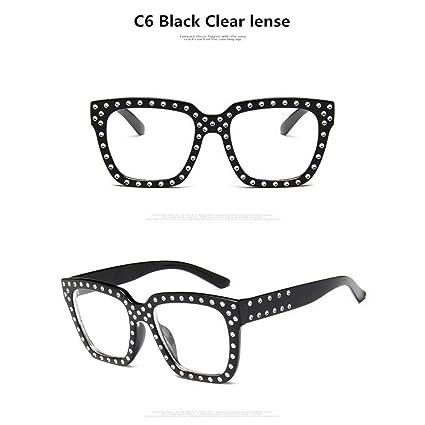 Amazon.com : YLNJYJ Gafas De Sol Top Rhinestone Marca De ...