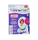 Turbie Twist Super-Absorbent Hair Towel Microfiber Twist & Loop (Colors May Vary)