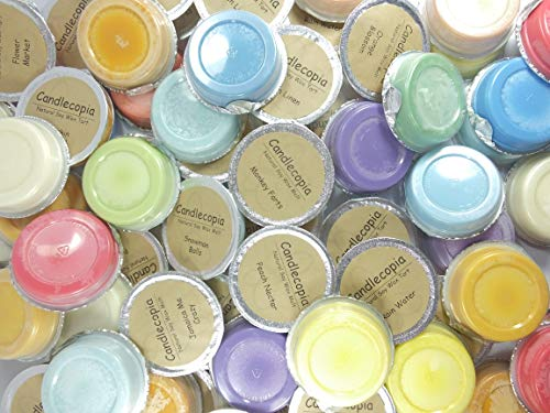 Wax Scented (Candlecopia Sampler Mix Strongly Scented Hand Poured Premium Natural Soy Wax Melt Cups, 12.5 Ounces in 10 x 1.25 Ounce Sealed Cups)