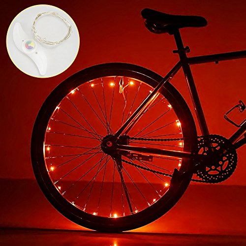 DIMY Toys for 6-14 Year Old Boys, Bicycle Accessories Bike Wheel Light 6-14 Year Old Boy Toys 5-14 Year Old Boys Girls Gifts New Gifts Red TTB03