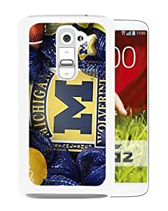 Popular Custom Designed Case For LG G2 With Michigan Wolverines White Phone Case