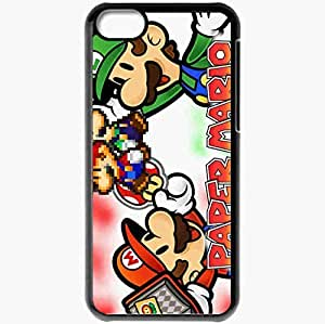 diy phone casePersonalized ipod touch 4 Cell phone Case/Cover Skin Paper Mario Sticker Star Blackdiy phone case