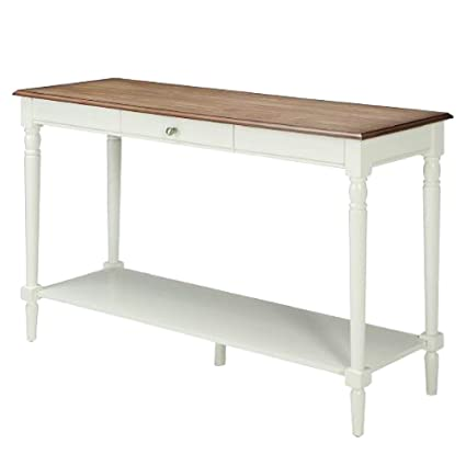 hall entryway table white narrow modern farmhouse long wood console tall drawer shelf storage big french