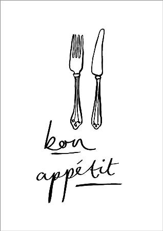 Amazon De Bon Appetit Print Franzosische Kuche Print French