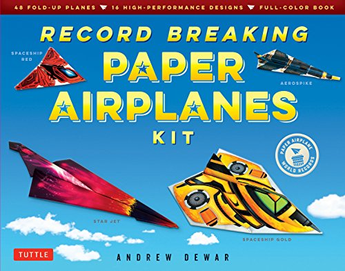 - Record Breaking Paper Airplanes Kit: Make Paper Planes Based on the Fastest, Longest-Flying Planes in the World!: Kit with Book, 16 Designs & 48 Fold-up Planes