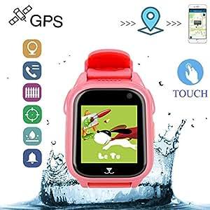 Relojes Ninos GPS con Posicionamiento de La Estación Base GPS + LBS Relojes Inteligentes Alarma de ...