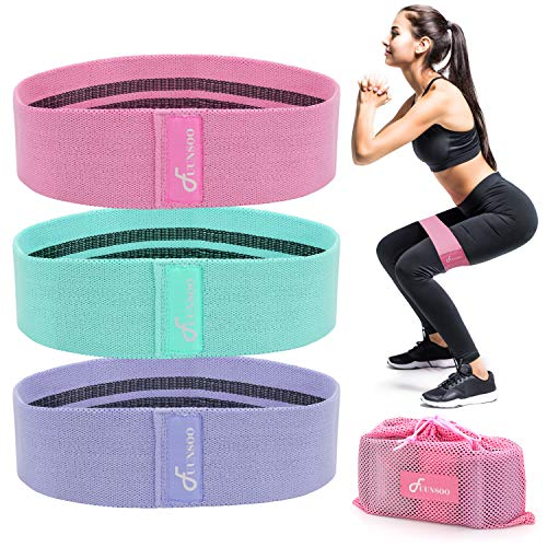 2019 Upgrade GYMSER Resistance Exercise Bands for Legs and Butt,Hip Booty Workout Bands Loop Bands for Physical Therapy Glute or Squat Workout Wide Bands Stretching Gym Bands