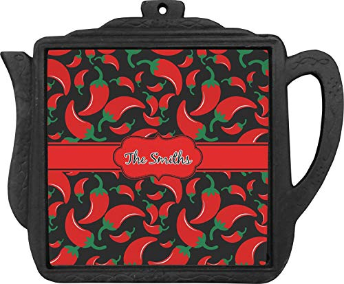 (Chili Peppers Teapot Trivet (Personalized))