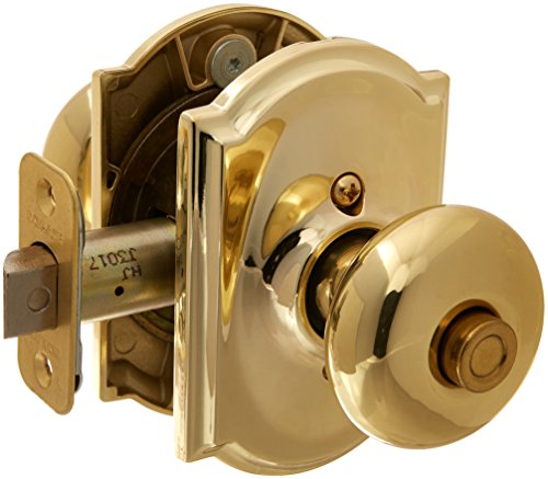 - Schlage Lock Company F40PLY605CAM Polished Brass Knobset, Privacy Plymouth Door Knobset