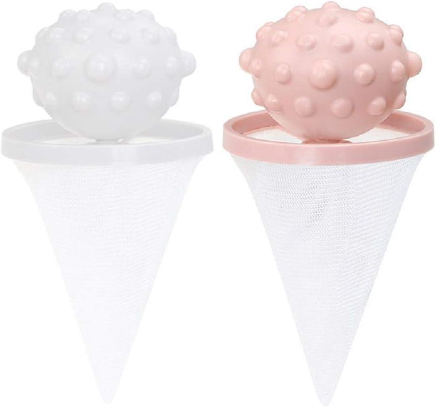 Sac /à attrape-peluches pour machine /à laver Mongxi R/éutilisable en maille pour filtre /à cheveux Rose