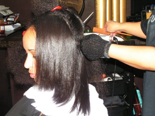 Keratin Gold & LGel Complex Nourishing Straightening Damaged Frizzy Curly African Hair