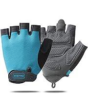 Men & Women bicycle Gloves Half Finger Cycling Mountain Bike Road Bike Gloves-Anti-Slip Shock Absorbing Gel Pad Breathable Motorcycle Outdoor Sports Short Fitness Running rock climbing Gloves