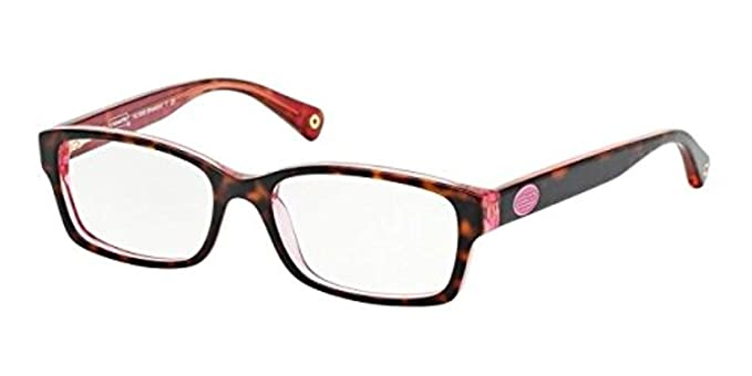 4841c6b18e13f Coach Women s HC6040 Eyeglasses Tortoise Pink 52mm at Amazon Women s  Clothing store