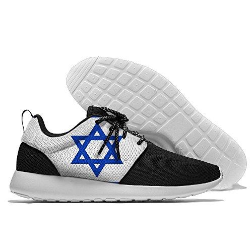 Yoigng Mens Flagga Israel Jogging Skor Sportskor Casual Skor