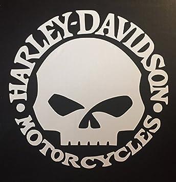 Harley Davidson Motorcycles Aufkleber Sticker Folie Tattoo Harley Skull Totenkopf Punischer Neu Hellrot Glänzend