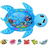 MAGIFIRE Tummy Time Baby Water Mat Infant Inflatable Water Play Mat for 3 6 9 Months Newborn Boy Girl Sea Turtle(Upgraded Version)