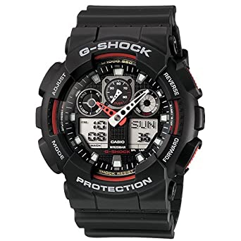 Buy casio g shock analog digital black dial mens watch ga 100 casio g shock analog digital black dial mens watch ga 100 fandeluxe Choice Image