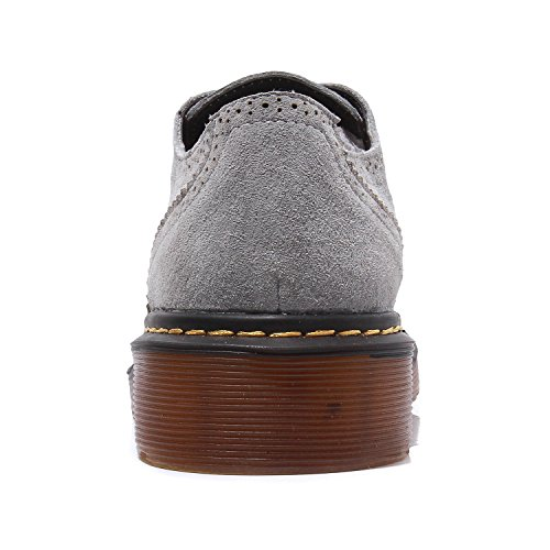 zapatos derby Oxford de Lady punta Brogue Zapatos Full Smilun Gris redonda Classic Flats RYXq0H