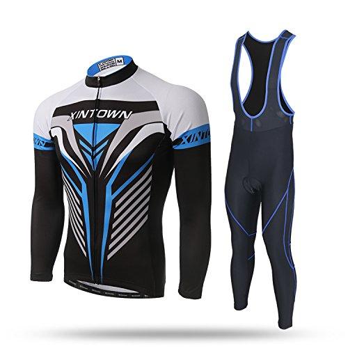 漂流乳製品保守可能LPATTERN サイクリングジャージ 自転車服 長袖ウェアセット スポーツウエア 自転車ウエア アウトドア 上下セット メンズ 通気がいい 吸汗速乾