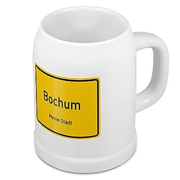 Bierkrug mit Stadtnamen Bochum - Design Ortschild - Städte-Tasse ...