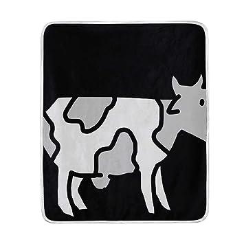 Amazon.com: Cow Drawing Luxury Fleece Woolen Blanket, Plush ...