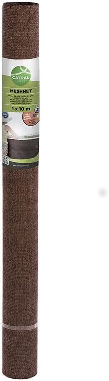 Catral 53010050 - Mini-rollo malla ocultación total, 100 x 1000 x 4 cm, color marrón